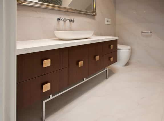 modern custom bathroom cabinets