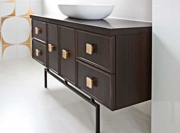 custom wood bathroom shelves