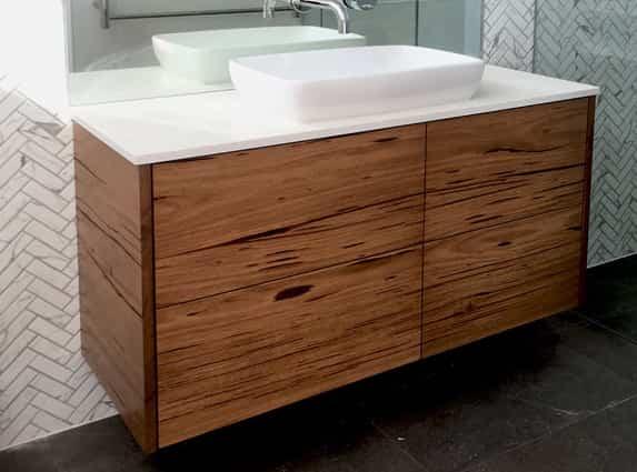 bathroom hanging wood shelves
