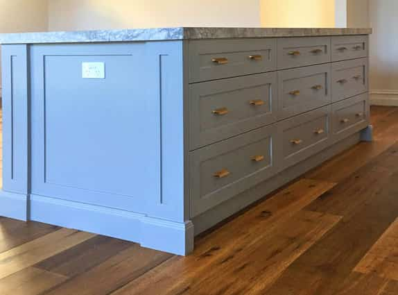 kitchen aisle cabinet design