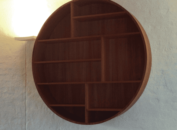 modern round wall shelves