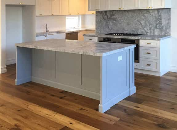 modern kitchen cabinets with marble tops